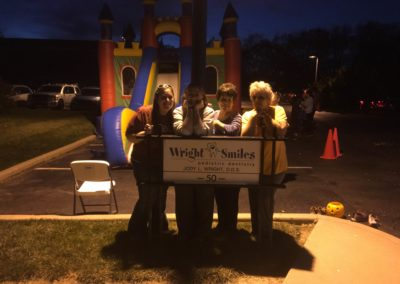 Wright Smiles candy donation 2016-Kendra, Gracie, Mary Jo, Penny